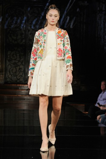 Hand Aari Hand Embroidered Jacket and handwoven Dress