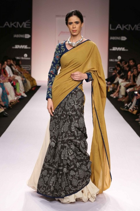 Wrap Around Sari with Embroidered Blouse