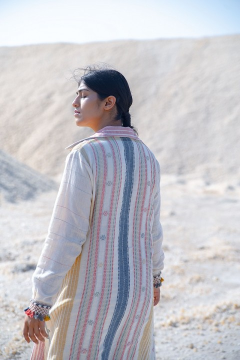 Kala cotton hand woven jacket