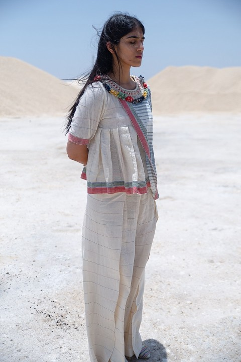 Kala cotton handwoven overlap pants