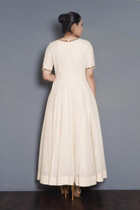 Offwhite Floor length gown