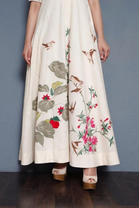 Kora Khadi mirror and hand embroidered dress