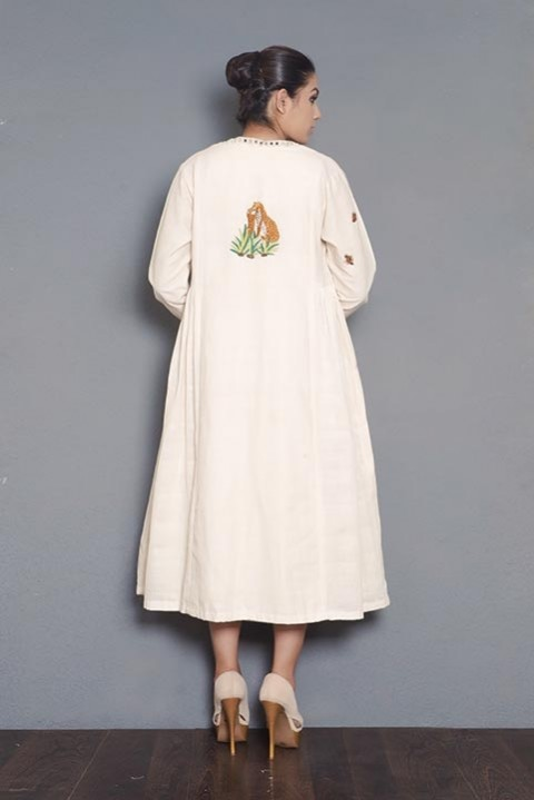 Kora khadi gathered jacket