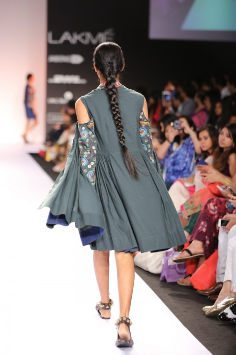 Deep Green Dress With Embroidered Jacket