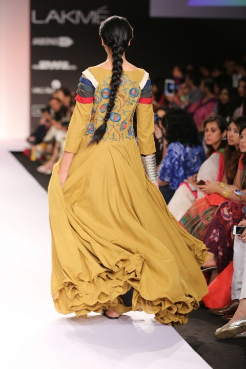 KhaKhi Embroidered And Panelled Dress
