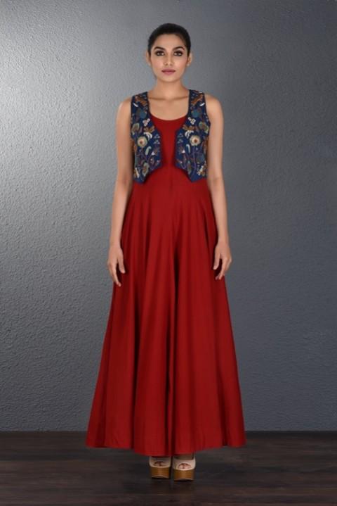 Blood Red Slip Dress