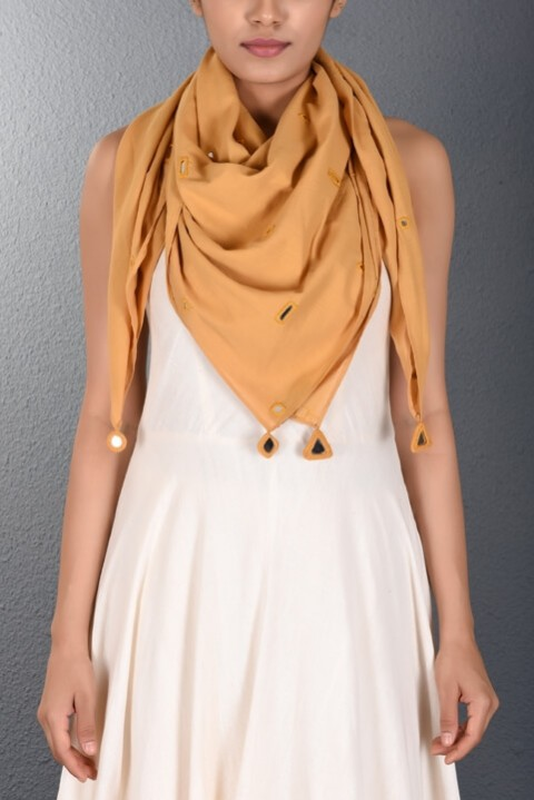 Yellow Scattered Mirror Stole